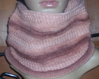 Pink and Mauve Cowl / Scarf