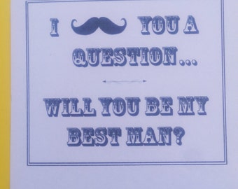 will you be my Bestman,wedding invitation cards,set 0f 6 cards