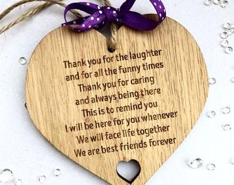 Best friend gift, Best friend sign, best friend plaque,  gift for a friend. friend sign, friendship gift, bridesmaid gift