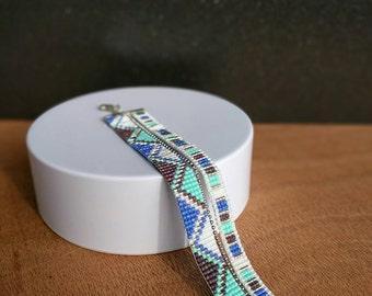 Miyuki beaded bracelet - Geometrical pattern