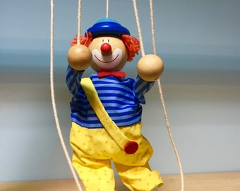 Clown string puppet marionette