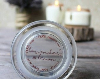 Natural Candles - Lavender Soy Candle - Lemon Lavender Essential Oil Candle - Scented Soy Candles - Jar Candles - Aromatherapy - Hand Poured