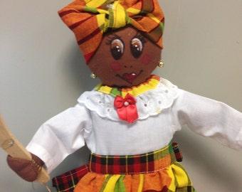 Caribbean Doll - Plastic Bag Dispenser