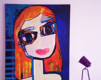 "Painting on canvas ""Vicky"""
