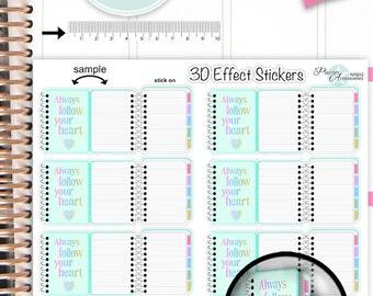 3D Effect Stickers - Planner Stickers Erin Condren Functional Stickers Decorative Stickers NR852