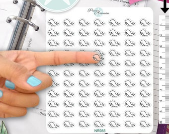 Clear Whale Stickers Fish Stickers Under the Sea Sticker Planner Stickers Erin Condren Functional Stickers Decorative Stickers NR985