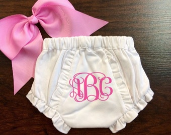 Monogram Baby Fancy Pant, Baby Bloomers, Name or Initials, Diaper Cover, Girl or Boy, Cute Baby Shower Gift