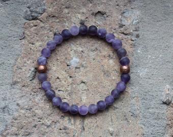Amethyst + Copper Bracelet