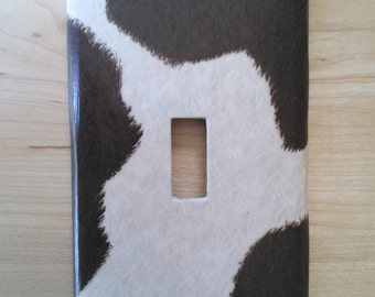 Cowhide Switchplate