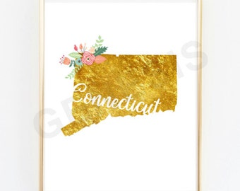 Connecticut Gold State Prints - Second Print for Cities!