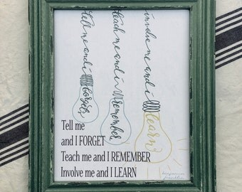 Classroom Printable | Ben Franklin Quote | Great for Kid's Room