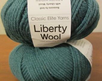 Liberty Wool in Classic Elite Yarns - in Mallard Green