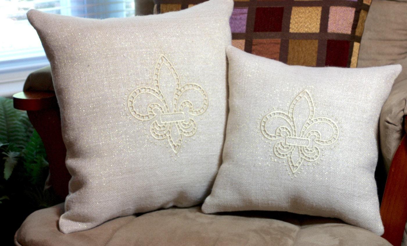 Black and Gold Home Decor Louisiana Decor Burlap Pillow
