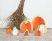 Handmade Paper Pumpkin (Large/Small)   Pumpkin Ornament   Halloween Decoration   Autumn & Fall Decor   pulps of wood