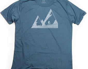 Ninus - Mountains, Hand-printed Bamboo Men's T-Shirt