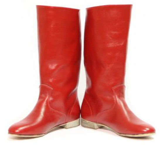 Men's Dance Hight Boots, Cossack boots, Leather boots, Russian man boots, Black boots, Red boots, White boots