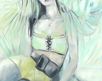 Dreaming Anabel, print of oil painting fine art print