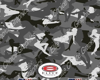 "Trucker Girl Urban 15""x52"" or 24""x52"" Truck/Pattern Print Tree Real Camouflage Sticker Roll or Sheet"