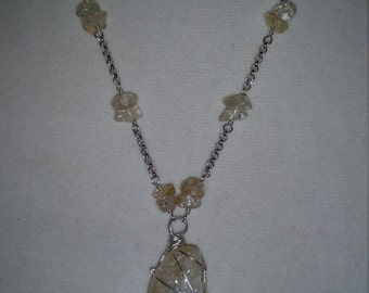 "Citrine ""All Wrapped Up"" Wirework Necklace"