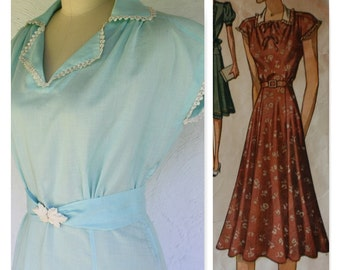 1940's , WWII Vintage Reproduction Dress