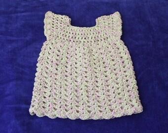 Crochet Baby Dress, 6 Months, Baby Dress, Crocheted