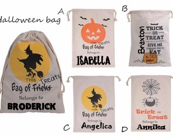 Halloween Trick or Treat Bags - Personalized Halloween Bag - Halloween Goodie Bags - Personalized Trick or Treat Bags - Halloween Favor Bags