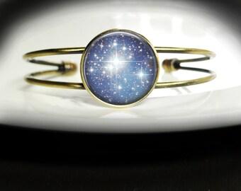 ON SALE Blue Star Bracelet Sky Full of Stars Bracelet - Sky Blue Bracelet Bangle - Sky Full of Stars Bangle Bracelet - Blue Sky Bracelet Jew