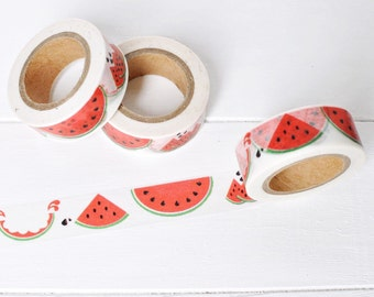 Watermelon Washi Tape. 15mm x 10m. Large Watermelon Slices. Summer Washi Tape. Fruit Washi Tape. Watermelon Planner Supplies.