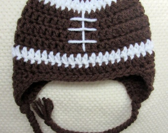 Crochet Football Hat, football hat, crochet hats for kids, toddler football, baby football costume, football baby shower, kids football hat
