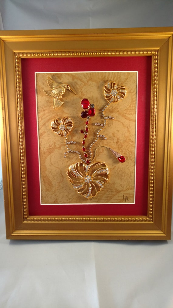 Valentine Jewelry Artvintage Framed Jewelry Art Home Decor