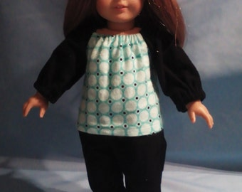 "Flannel Pajamas for 18"" doll"