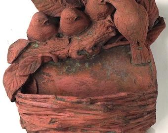 Decorative Terracotta Bird Feeder - Ideal for the Garden and the Birds