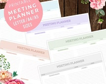 Meeting Notes Planner Insert for Business Planner A4/A5/Letter , Printable Planner, Instant Download