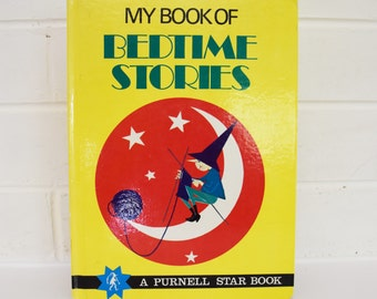 Vintage Children's Book - 'My Book of Bedtime Stories'- Purnell London -  1971