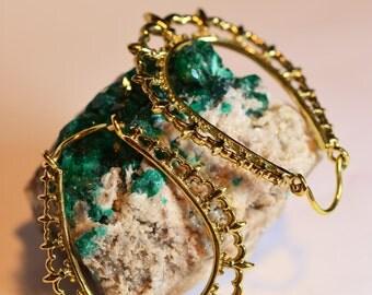 """Brass Earrings """"Fleur de Lis"""""""