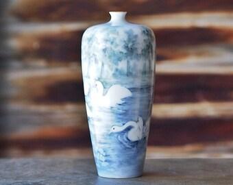 Rosenthal Bavaria Swan Vase c. 1900