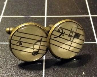 Music Note Cuff Links