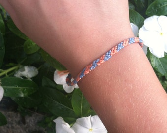 friendship bracelet - blue and orange - handmade