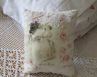 Handmade brooch cushion