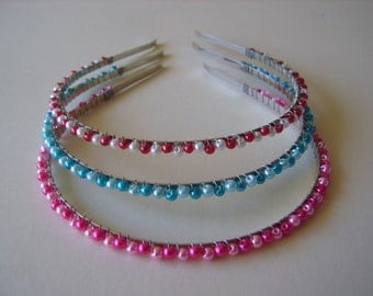 Coloured beaded Headbands