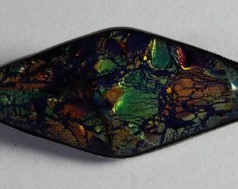 Diamond Shaped Butterfly Wing Brooch