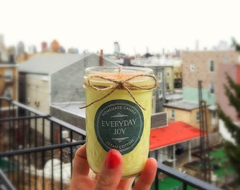 Clean Cotton Soy Handmade Candle