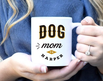 Dog Mom Mug, Dog Lover Mug, Custom Dog Mug, Dog Lover Gift, Dog Mom Gift, Pet Parent, Dog Mug, Dog Gift, Rose Gold Rebel, Custom Dog