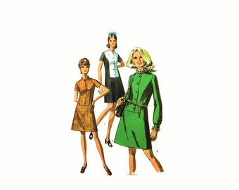 1960s Vintage Sewing Pattern - Simplicity 8387 - Mod Dress