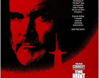 Tom Clancy's The Hunt For Red October 1990 Movie Poster Sean Connery 24x36