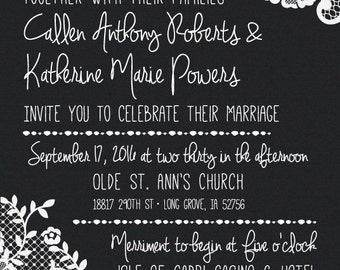 Lace Wedding Invitation and RSVP