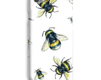 Bees iPhone Case, Insect iphone case, Honey iphone 6 case, White iphone 6 case, Cute iphone 6s case, Cool iphone case