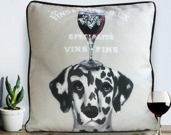 Dalmatian gift Dalmatian Pillow Dalmatian Cushion wine gift Dalmation Dalmatian Print Gift for dog lover dog throw pillow Cushion covers UK
