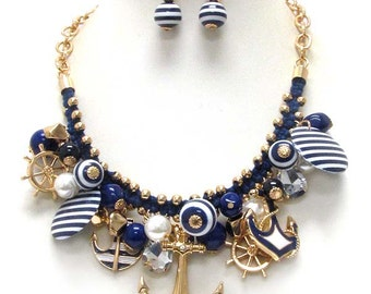 Nautical Anchor Charm Necklace