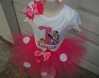 Minnie mouse tutu outfit set